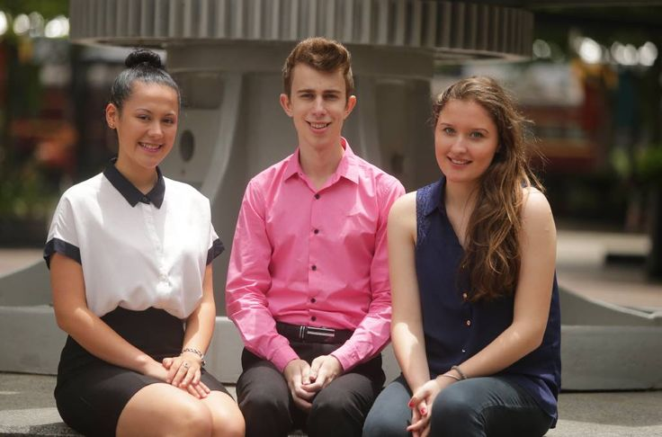 High achievers: Katerina Markovska, Spiros Kalavritinos and Salina Alvaro. Picture: Chris Lane.