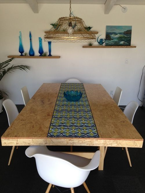 DIY OSB table top & light fixture | dining areas I ...
