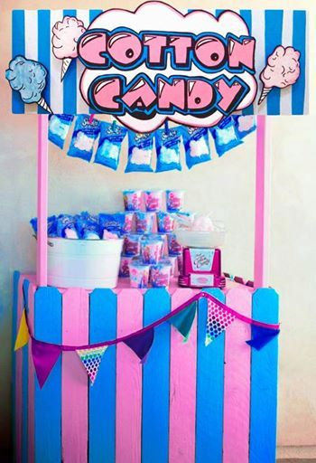 Cotton Candy booth circus carnival concession by CutItOutCustoms