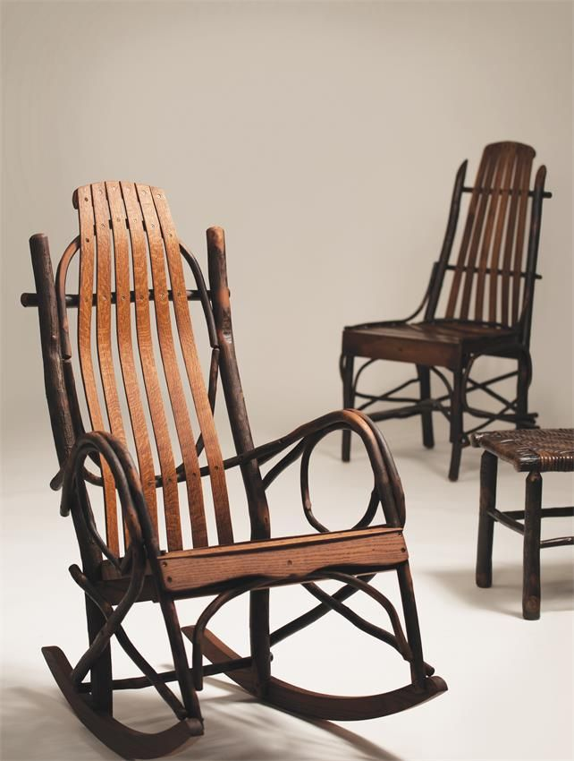 Hickory Big And Tall Rocking Chair | Amish Made Porch Rockers