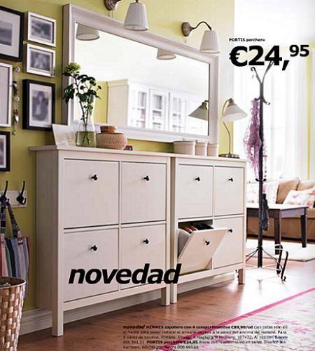Hemnes Espejo, Espejo Blanco, Marcos Espejo, Zapateros Ikea, Decor Entrada, Entrada Recibidor, Decoración Entrada, Mueble Entrada, Recibidor Idea