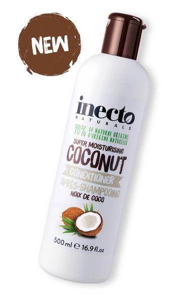 Inecto Naturals kokos hårbalsam 100 % ekologisk kokosolja. Veganvänlig! Köp hos Ecoliving.se