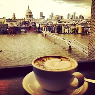 The Tate Modern | Grab a comfy spot in an inspiring gallery room, or go up to the espresso bar balcony with a brilliant view of the Thames