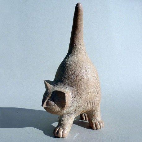 Turlututu, chapeau pointu ! / Chat. / Cat. / Céramique. / By Christian Pradier
