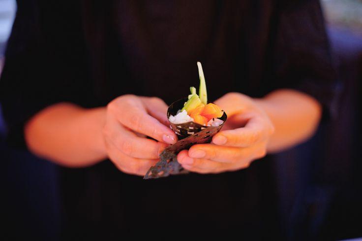 The ultimate sushi handrolls with custom lazer cut nori