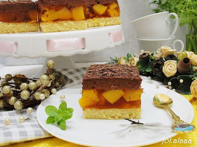 Ala piecze i gotuje: Ciasto brzoskwiniowa delicja