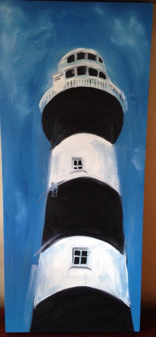Lighthouse- oil on canvas