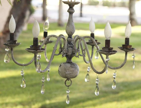 Cottage Style Shabby Chic Chandelier