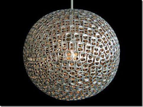 Residuos de envases ligeros como recurso para decoración, ¡Y menudo estilo!. #residuos = #recursos