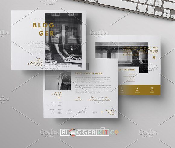 Blog Media Kit + Sponsorship | 5 Pgs by Blogger Kit Co. on @creativemarket
