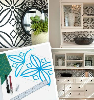How to make a stencil at home easily // Tartós stencil készítése házilag egyszerűen (mintafestő sablon) // Mindy - craft tutorial collection // #crafts #DIY #craftTutorial #tutorial #DIYFurniture