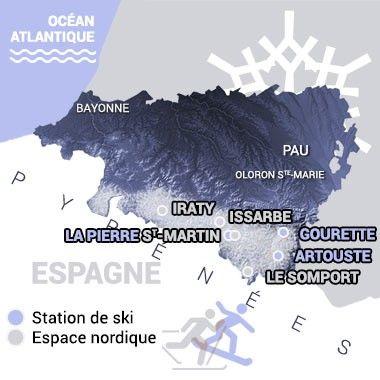 Ski nordique à Iraty, spot raquettes du Pays basque