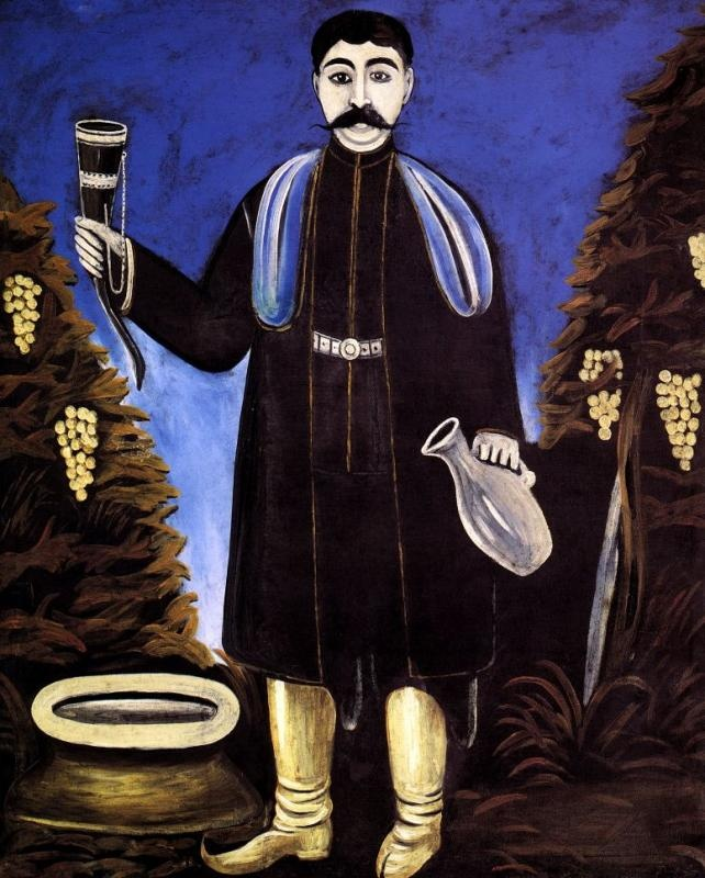 Niko Pirosmani - Prince with a Horn of Wine