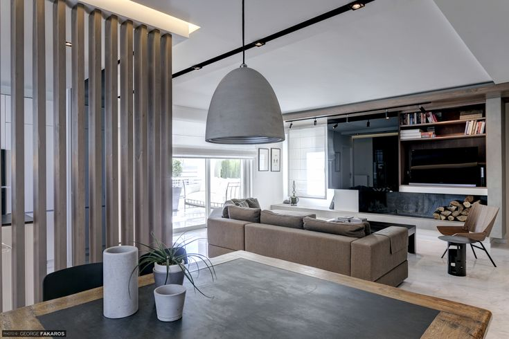Apartment in Voula Dining - Living room