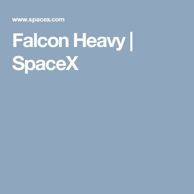 Falcon Heavy | SpaceX