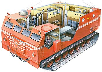 """Kharkovchanka"" helped Soviet expeditions to reach the South Pole multiple times, and according to some sources, still remains in use at Russian polar stations. They praise the vehicle as the best ice/snow transportation ever made."