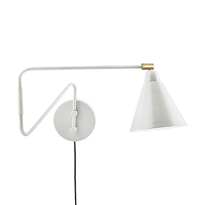Light Society Granville Long Swing Arm Wall Sconce in Matte White LS-W218-WHI