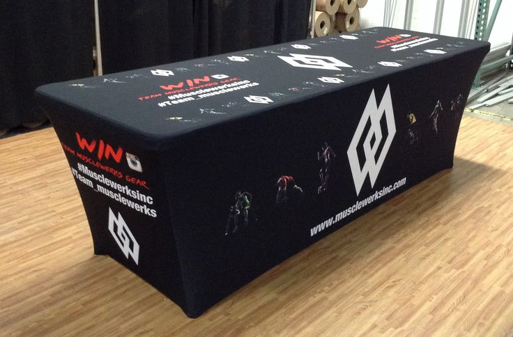Tru-Fit table cover will give your trade show booth a polished look. The fitted design eliminates wrinkles, making it both practical and stylish. #TradeShow
