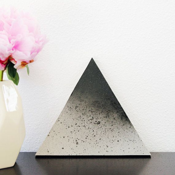 Concrete Triangle Trivet van 45wall op Etsy