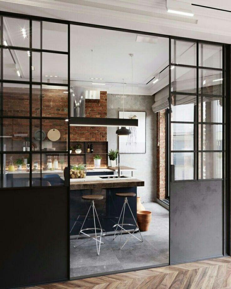 Entscheiden Sie sich für das Schiebedach, um die offene Küche zu trennen – #da