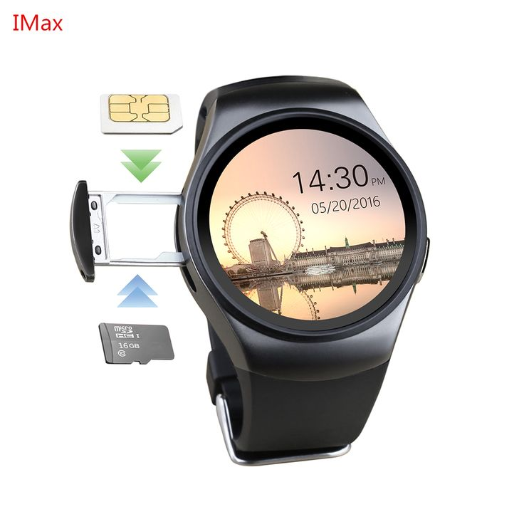 Hot! KW18 Smart Watch SIM TF MTK2502 Heart Rate Monitor Smartwatch Touch Screen bluetooth Wristwatch for apple android IOS phone