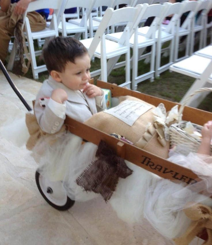 28 best Ring bearer wagon images on Pinterest Ring bearer outfit