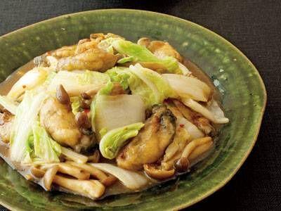 [白菜とかきのオイスターソース炒め] 料理レシピ|みんなのきょうの料理