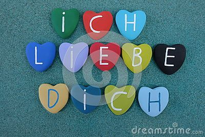 Ich Liebe Dich, german words meaning I love you