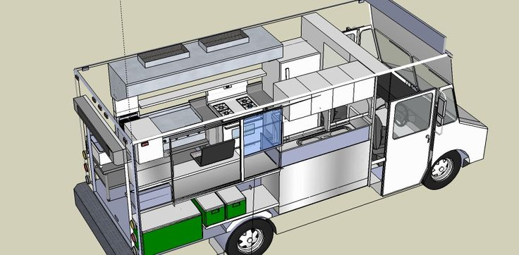 Design concept for food truck the lunch truck biz for Food truck layout