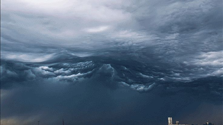 Undulatus asperatus clouds are a breathtaking reminder that the atmosphere is an ocean, complete with waves crashing in the sky.