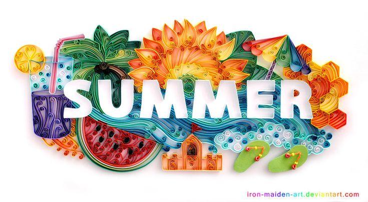 summer: Papercraft, Summer Art, Paper Art, Quilling Summer, Quilling Art, Paper Quilling, Summer Quilling, Paper Crafts, Irons Maiden Art