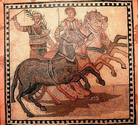 A Roman Charioteer; if he had lived today he would have been worth $15 billion-the highest paid athlete ever