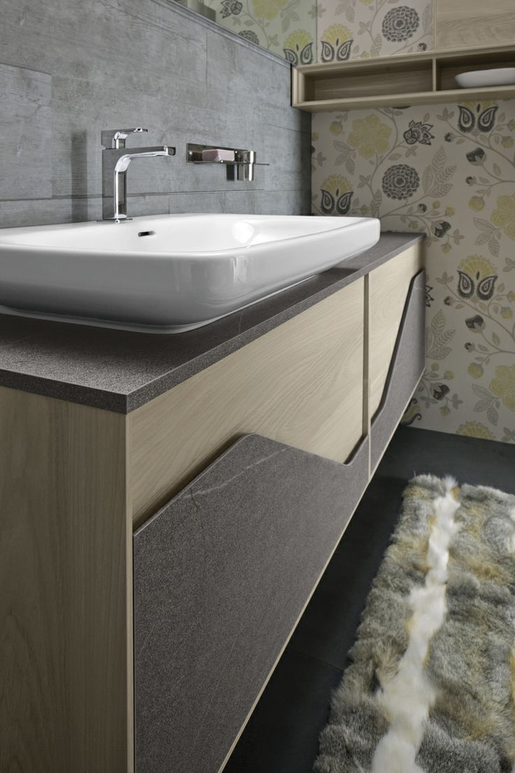 Vivid Yellow Bathroom Vanity With Curvaceous Lines | houseofdesign ...