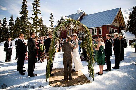 outside winter wedding!......hopefully it was a short ceremony...