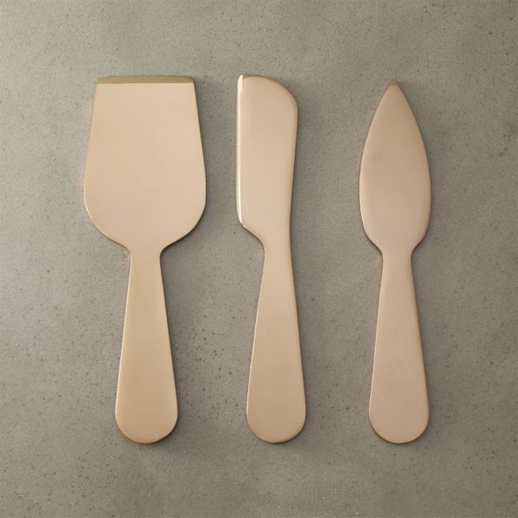 Free Shipping.  Shop 3-piece slim cheese knife set.   Sleek laser-cut tools serve up cheese with modern flair.