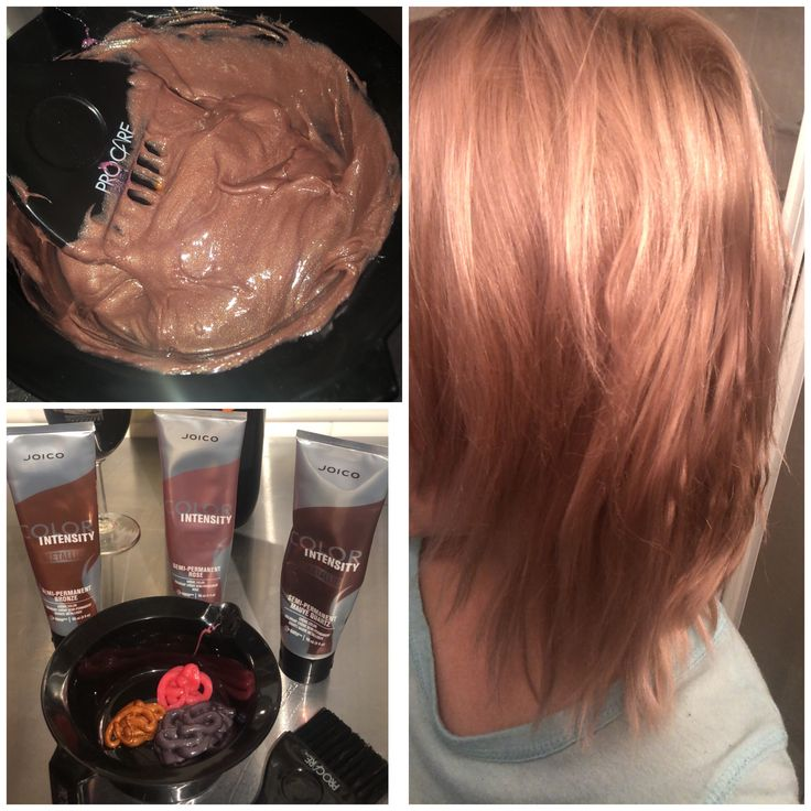 Perfect Rose Gold 🌹💗 Joico Color Intensity Metallics