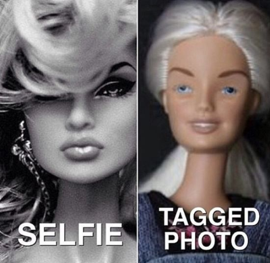 """......the sad part is though, even """"tagged photo"""" barbie looks better than my tagged photos hhaahaha"""