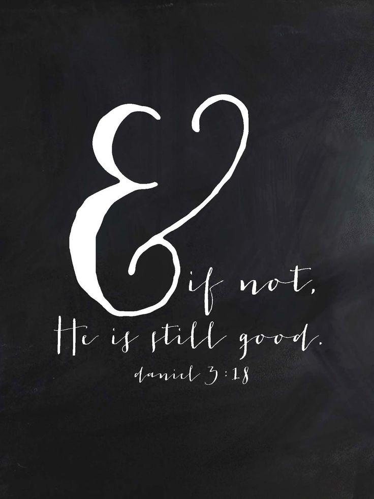 Sweet Blessings: & if not.....Daniel 3:18 FREE printable
