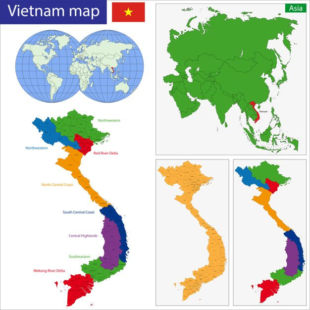 Vietnam map Premium Vector | Tượng in 2019 | Vietnam map, Map vector