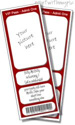 Ticket invitation templates, printable ticket invitations with your picture, invitation tickets for kids, free, online