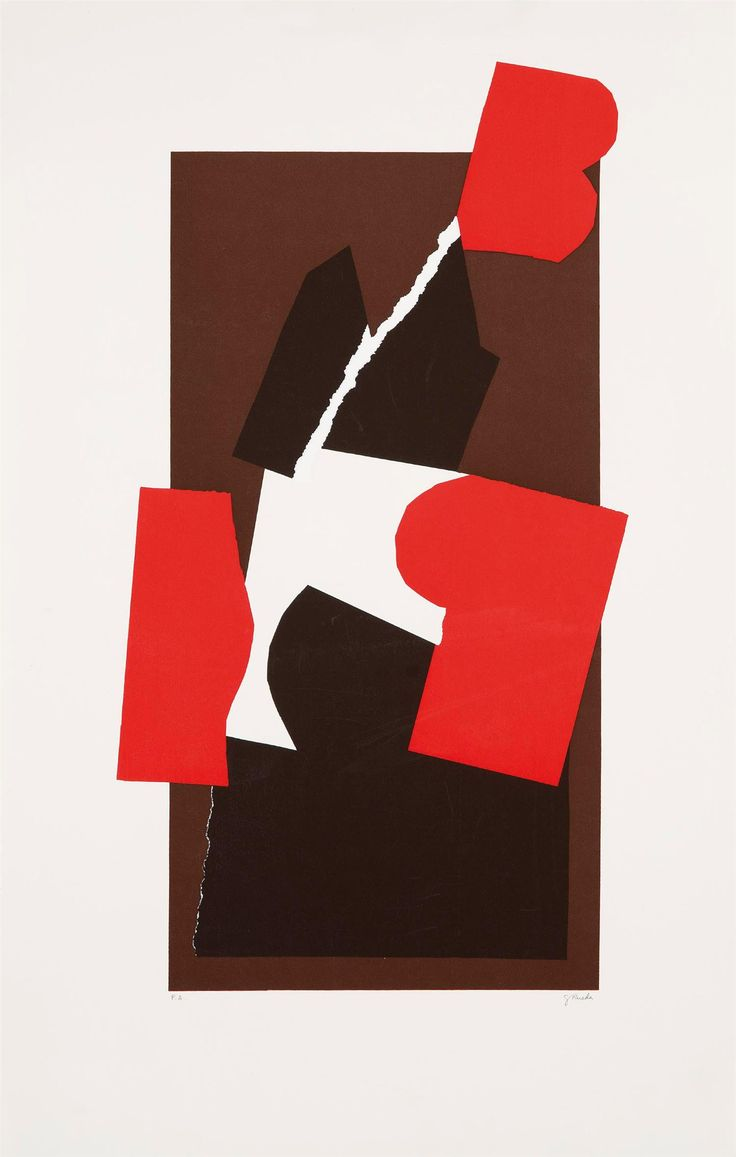 "Gerardo Rueda [Spain] (1926 - 1996) ~ ""Theo 85"", 1985. Serigrafia (70 x 44 cm). 