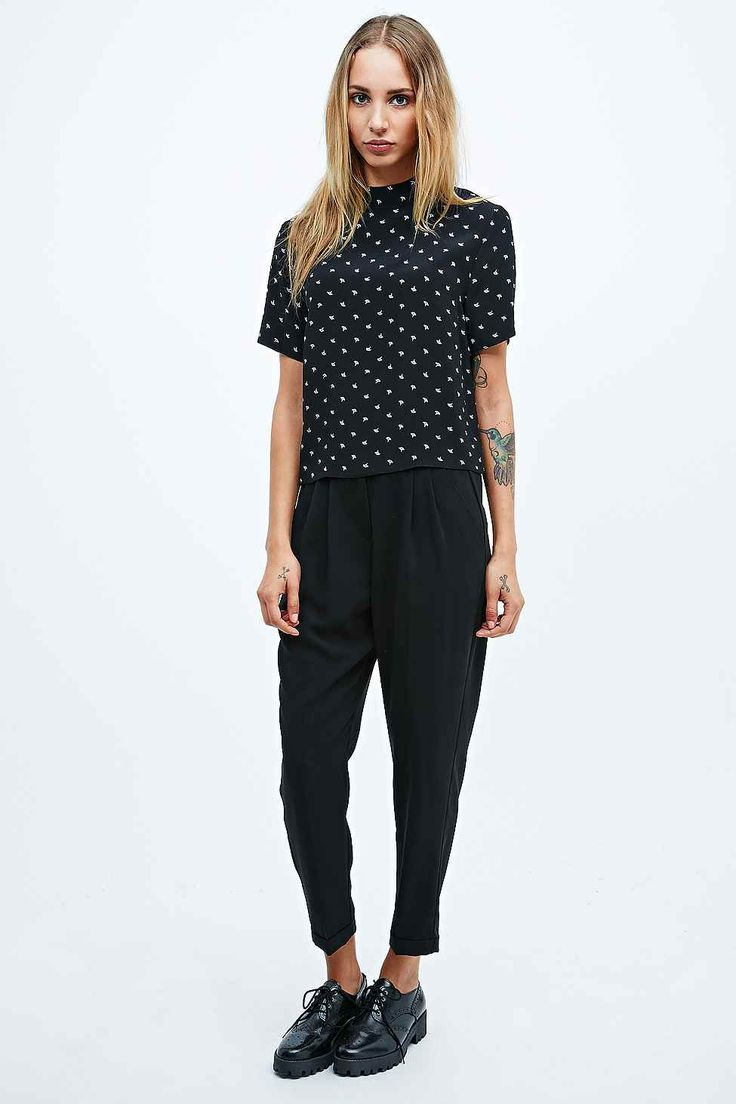 Cooperative Slim Trousers in Black - Urban Outfitters