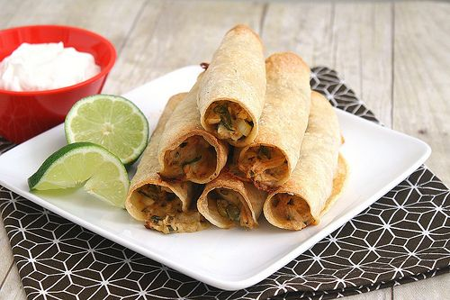 Chicken taquitos... premake them and freeze for easy and fast homemade ...