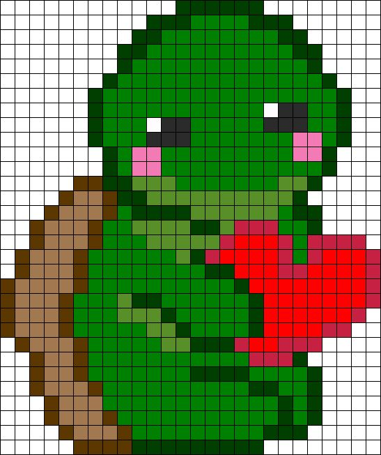 Love Turtle perler bead pattern