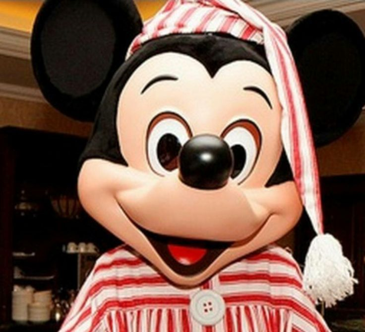 Mickey in his pajama outfit.