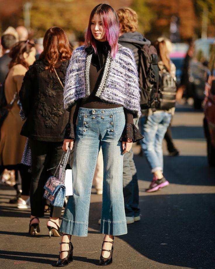 Influencer & Model Irene Kim outside the Chanel show