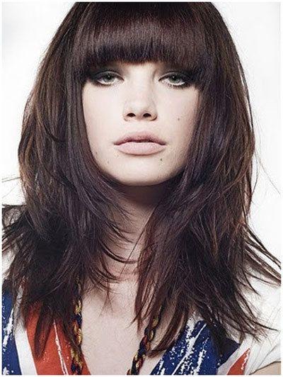 choppy medium front #bangs hairstyle