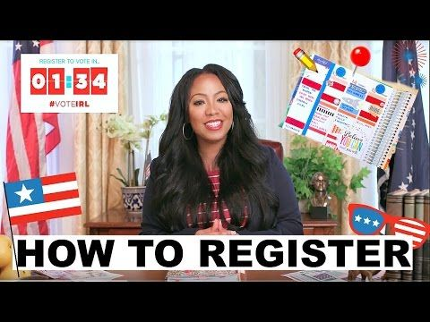 Register to Vote In 1:34 While I Decorate My Planner! | Presidential Debate 2016 Theme #voteIRL - YouTube