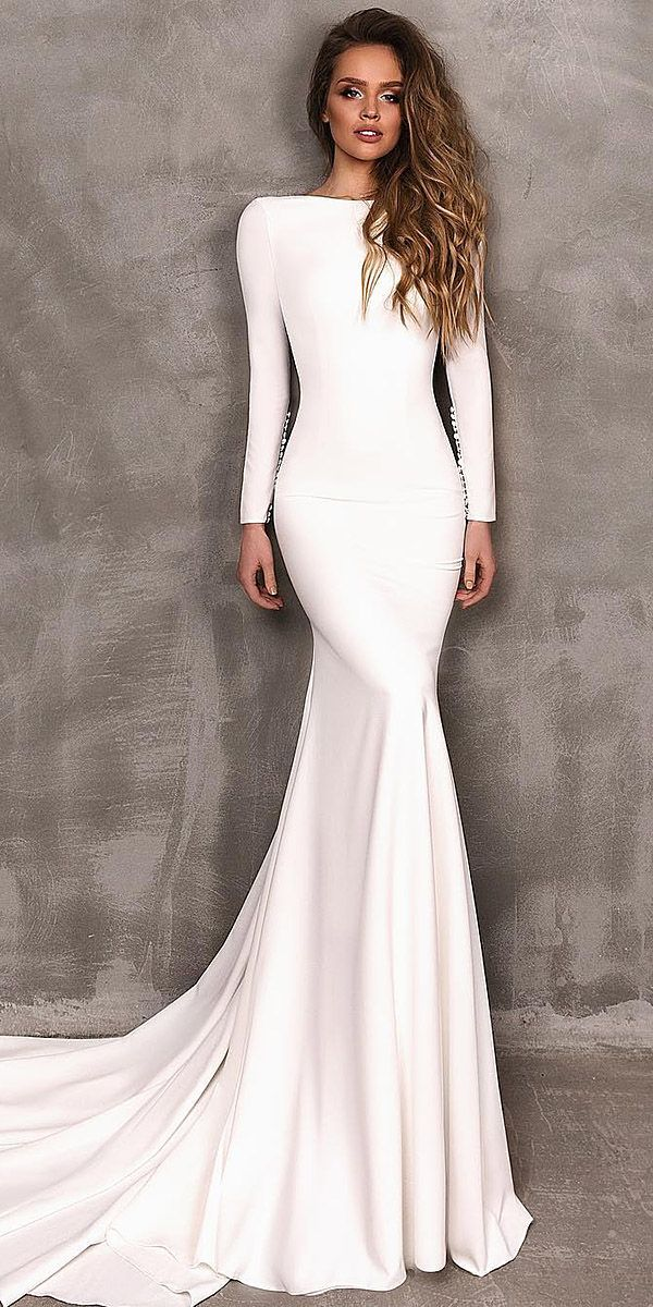 18 Modest Wedding Dresses With Sleeves ❤  ❤ Full gallery: weddingdressesgui….