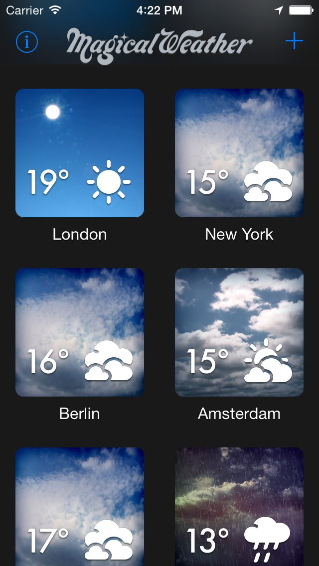 iPhone App MagicalWeather      ****   4    $ NOW FREE   MagicalWeather is a stunning weather app, brought to you by MeteoGroup, Europe's leading private weather company. Striking